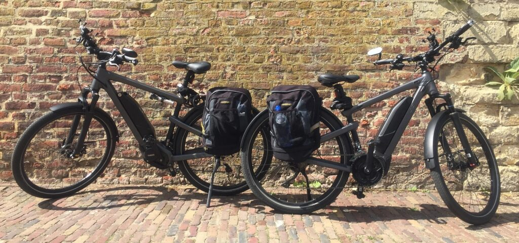 De fietsen van Miriam en Michel